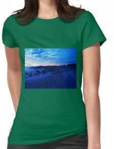 Moody Blue Beach Tones Womens Fitted T-Shirt
