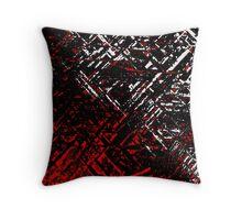 Techno Stone, Red (Texture) Throw Pillow