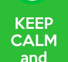 Keep calm and allow icmp6 - green Sticker
