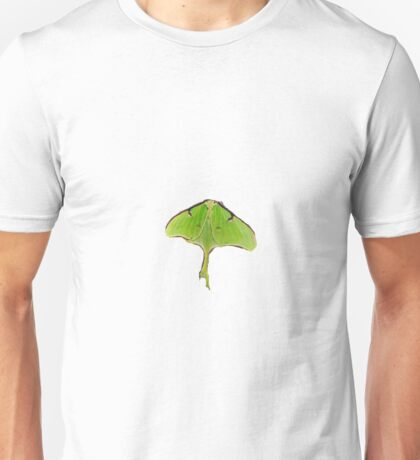 The butterfly moth on transparent  Unisex T-Shirt