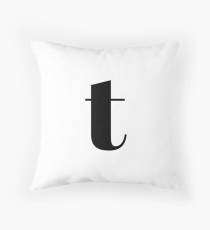 """t"" initial Throw Pillow"