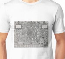 Vintage Map of Palermo Italy (1581) Unisex T-Shirt