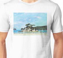 Beach of Abel Tasman Park in Watercolor Unisex T-Shirt