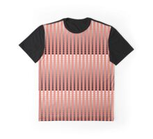 Satin Dots, Coral and Pewter Graphic T-Shirt
