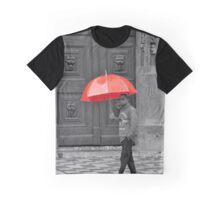 Rainy Day Red Graphic T-Shirt