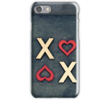 Vintage chalkboards with text XOXO iPhone Case/Skin