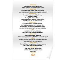 Ten duel commandments Poster