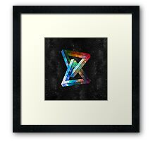 Space Puzzle Framed Print