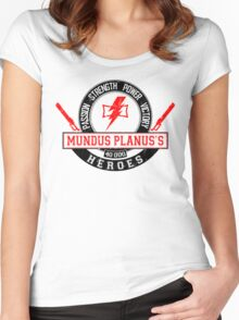 Mundus Planus Heroes - Limited Edition Women's Fitted Scoop T-Shirt