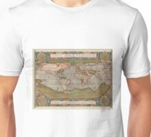 Vintage Map of The World (1608) Unisex T-Shirt