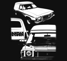 Holden Sandman Panel Van #2 - (BW) by blulime