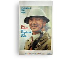 August 13, Celebrating the Berlin Wall - East German Propaganda Poster Canvas Print