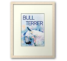 Keep calm, hug a bull terrier  Framed Print