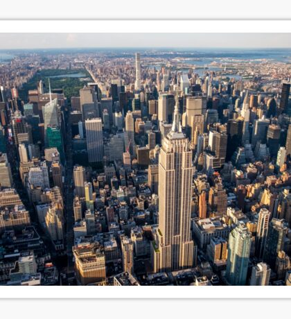 Aerial Empire State Building and Central Park Sticker