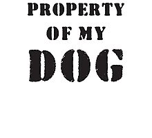 Property of my dog Photographic Print