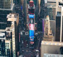 Aerial Times Square Sticker