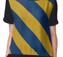 Kingston Rhode Island Navy & Gold Team Color Stripes Chiffon Top