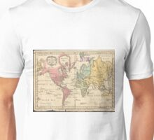 Vintage Map of The World (1760) 2 Unisex T-Shirt