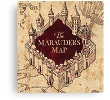 The Marauder's Map Canvas Print