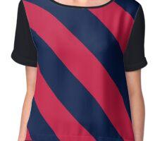 Birmingham Alabama Red & Navy Team Color Stripes Chiffon Top