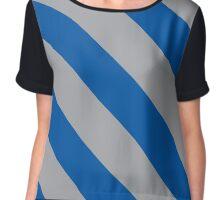 South Orange New Jersey Blue & Grey Team Color Stripes Chiffon Top