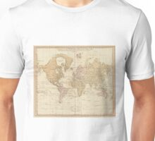 Vintage Map of The World (1775) 4 Unisex T-Shirt
