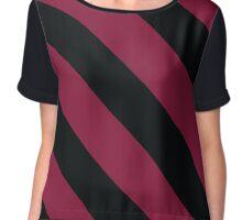 Carbondale Illinois Black & Maroon Team Color Stripes Chiffon Top