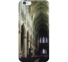 Pulpit and nave of Cathedral St Etienne Chalons sur Marne France 198405060043 iPhone Case/Skin