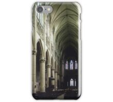 Pulpit and nave of Cathedral St Etienne Chalons sur Marne France 19840506 0043 iPhone Case/Skin