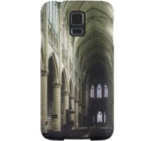 Pulpit and nave of Cathedral St Etienne Chalons sur Marne France 198405060043 Samsung Galaxy Case/Skin