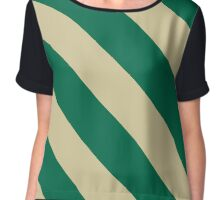 Tampa Florida Green & Cream Team Color Stripes Chiffon Top