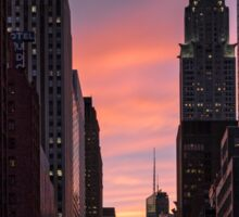 Chrysler Building at sunset Sticker