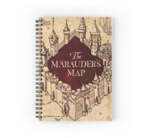 The Marauder's Map Spiral Notebook