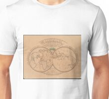 Vintage Map of The World (1839) Unisex T-Shirt