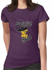 Socialist Chick #4 Womens Fitted T-Shirt