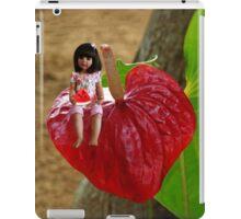 ANTHURIUM- HAWAIIN HEART FLOWER--LITTLE GIRL & WATERMELON A SUMMERS DELIGHT - PILLOW & TOTE BAG. iPad Case/Skin