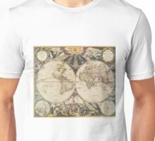 Vintage Map of The World (1668) Unisex T-Shirt