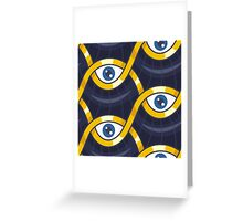 Evil Eye Pattern Greeting Card