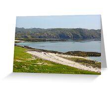 Bay at Handa Island Greeting Card