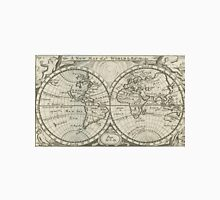 Vintage Map of The World (1708) 2 Unisex T-Shirt
