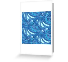 Abstract Ocean Waves Greeting Card