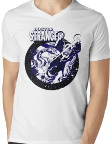 Doctor Strange • Blue & Black Mens V-Neck T-Shirt