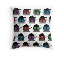 Chubby Dalek Pattern Throw Pillow