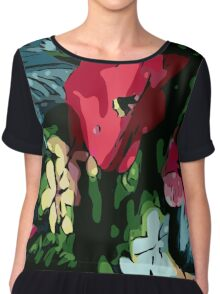 Garden flowers, poppy, colorful, jungle, color, gardening, jungle, rainforest, beautiful, summer Chiffon Top