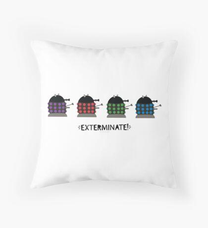 Chubby Daleks Throw Pillow