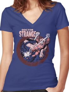 Doctor Strange •Red Tint Women's Fitted V-Neck T-Shirt