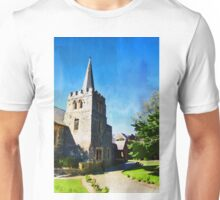 St. Peters church in Quenstown (New Zealand) in Watercolor Unisex T-Shirt