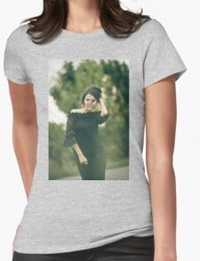 Fashion woman outdoor portrait Womens Fitted T-Shirt
