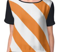 Syracuse New York Orange & White Team Color Stripes Chiffon Top