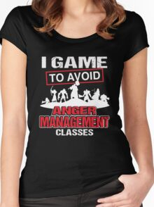 I game to avoid Anger Management Classes Women's Fitted Scoop T-Shirt
